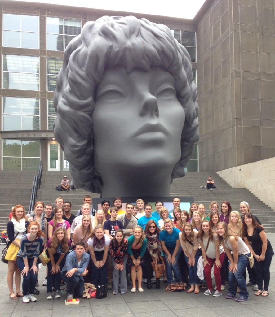 Honors Students outside the Chicago Museum of Contemporary Art; photo credit Bob Mesle