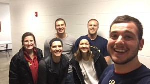 Graceland students snap a selfie at the Republican caucus.