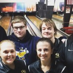 The Graceland University Bowling Team at a Tournament.