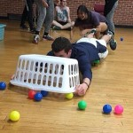 "There was more than dancing going on at the Dance-a-Thon! These students played ""Hungry, Hungry Hippos!"""
