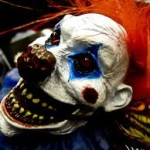 One of many clown masks that can be found masking a creeper.