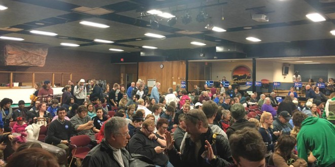 Student Support Strong at Iowa Caucuses
